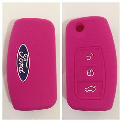 FORD PINK CAR KEY COVER CASE PROTECTOR Fiesta Focus Mondeo XR6 Territory Falcon