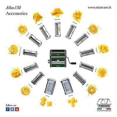 New Marcato Atlas Wellness 150 Diy Pasta Maker, Stainless Steel. Free Shipping