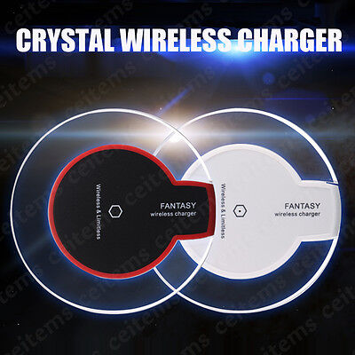 Slim Qi Wireless 2A Charger Charging Pad for Samsung Galaxy S7 S8 iPhone 8 Plus
