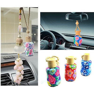 Empty Hanging Car Perfume Bottle Diffuser Freshener Home Office Fragrance Box
