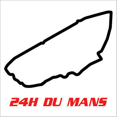 """Sarthe 24H of Le Mans Racing Circuit Track Decal Vinyl Sticker 2 Sizes:3.5""""x4"""""""