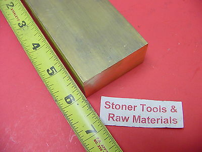"1"" x 2"" C360 BRASS FLAT BAR 6"" long Solid 1.00"" Plate New Mill Stock H02"