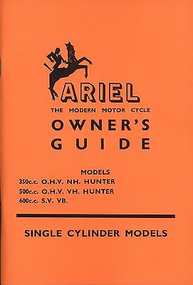 Ariel Owners Guide 350 500 NH VH Red Hunter VB 600 Manual