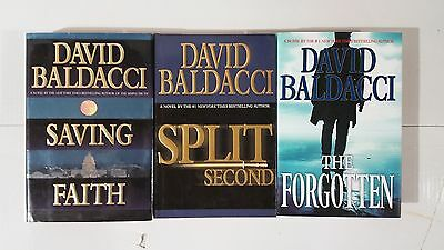 Lot of 3 Different Thriller Hardcover Novels by David Baldacci