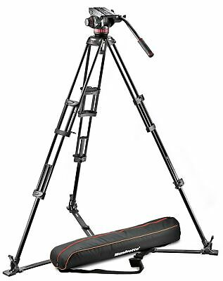 Manfrotto Professional Fluid Video System with Aluminum Tripod  (Black)