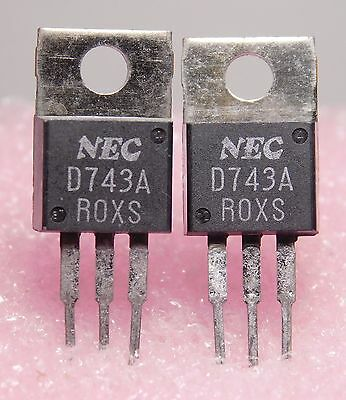 2SD743A  / D743A / TRANSISTOR / 2 PIECES  (qzty)