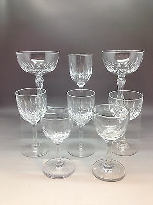 8 Vintage Drinking Glasses - Similar Styles - Different Sizes / Dates