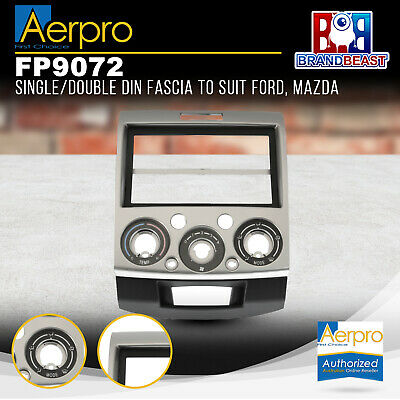 Aerpro Ford Ranger Pj / Pk 2007 - 2011 Double Din Silver Color Facia Fascia