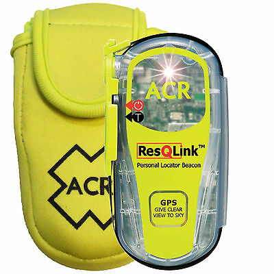 Acr Resqlink Personal Plb Epirb Gps And Pouch | Au Coded | Express Postage