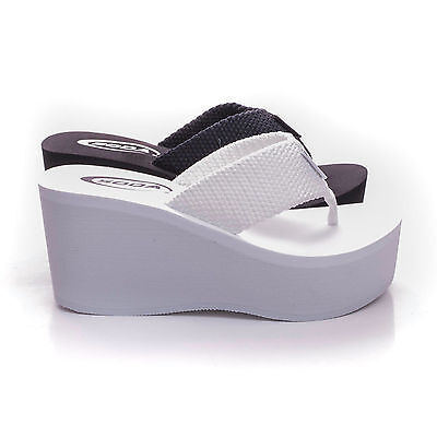 Soda OXLEY-S New Womens Wedge Sandals Thong Flip Flops Shoes Platform Heels