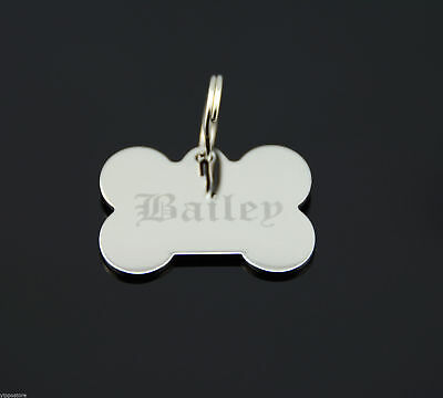 Custom Engraved Personalized Stainless Steel Bone Shape Dog Tag Pet ID Name