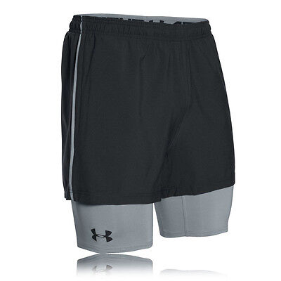 Under Armour Mirage 2 In 1 Trainer Mens Grey Black Shorts Pants Bottoms