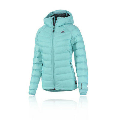 Adidas Terrex Ice Womens Blue Climaheat Water Resistant Hooded Jacket Top