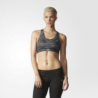Adidas Techfit Macrohth Womens CLIMACOOL Running Sports Bra Support Top