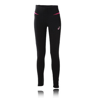ASICS Essentials Womens Pink Black Motion Dry Long Sports Tights Pants Bottoms