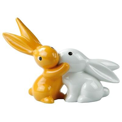 "BUNNY DE LUXE Hasenpaar aus Goebel Porzellan ""ORANGE SUNRISE BUNNY IN LOVE"" NEU!"