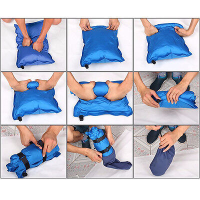 New Outdoor Automatic Inflatable Pillow Travel Summer Camping Hiking Air Cushion