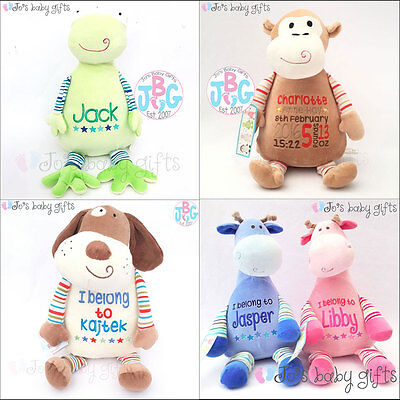 Personalised Cubbie Bear, New Baby/Christening Teddies,Embroidered Cubbies Gift