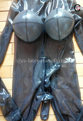Latex Catsuit Inflatable Boob Penis Sheath Anal Sheath socks Hood Latex Condom