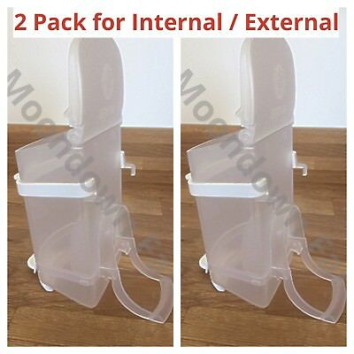 2pk 0.5kg SEED HOPPERS PLASTIC GREAT FOR AVIARY CAGE FINCHES BUDGIES & CANARIES