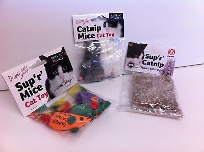 Ruff N Tumble Catnip Mice Mouse For Cats Kittens Toy Drives Cats Crazy New!