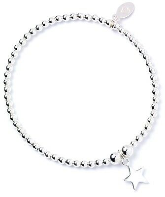925 Sterling Silver Ball Bead Noodle Roodle Bracelet with Cancer Ribbon Charm