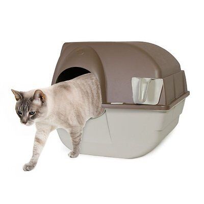 Omega Paw Self-Cleaning Litter Box, Regular, Taupe, New, Free Shipping