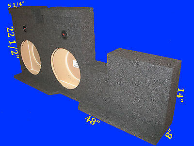"Toyota Tundra Double Cab 2007-14 12"" Down Fire Grey Subwoofer Sub Enclosure Box"