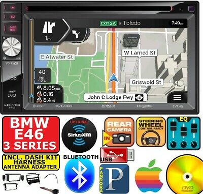 BMW E46 GPS NAVIGATION SYSTEM DVD BLUETOOTH USB Double Din Car Stereo Radio