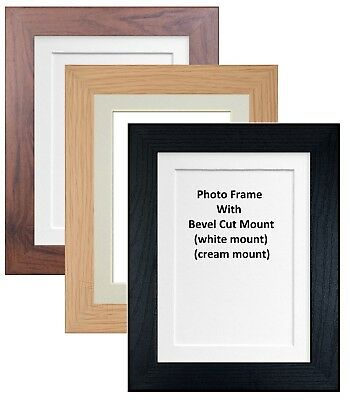 Black / Oak / Walnut Photo Frame With Mount Multi Aperture Mounts Poster Frames