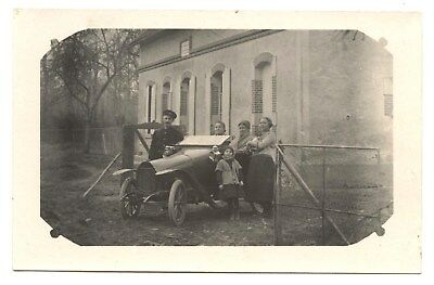 Carte Photo.automobile Ancienne.moto Car.voiture.vehicule Ancien