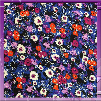 "100% rayon challis small flower print PURPLE 60""w Fabric by the yard"