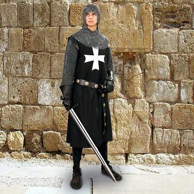 MEDIEVAL HOSPITALLER KNIGHT Crusader Middle Age COTTON SLEEVELESS TUNIC S/M L/XL