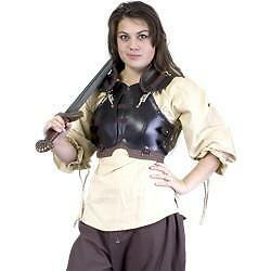 MEDIEVAL FANTASY AMAZON Rogue Women Female Leather Chest Back BODY ARMOR LARP