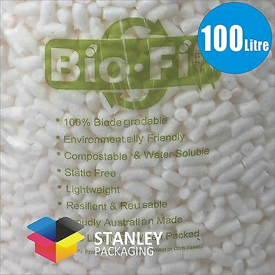 100 Litre Packing Peanuts Foam Nuts BioFill  cushioning Void Loose Fill