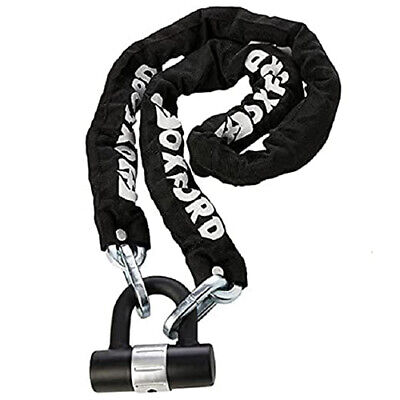 Oxford SOLD SECURE HD Chain & U-Lock Motorbike Motorcycle Lock 1.5M Heavy Duty