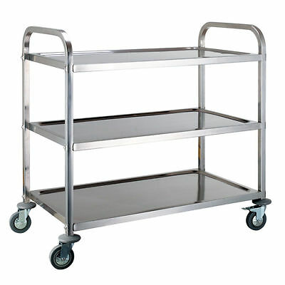 Stainless Steel 3 Tier Cart Kitchen Dining Service Food Utility Trolley Rack NEW