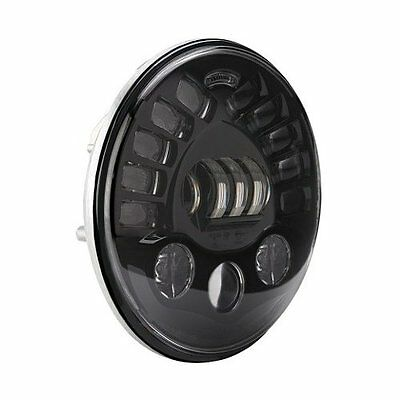 "JW Speaker Black 8790 Adaptive L.E.D Led 7"" Headlight Hi Low Beam Motorcycle"