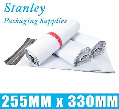 100 Courier Bag 255x330mm Poly Mailer Plastic Mailing Satchel Post Shipping Bags