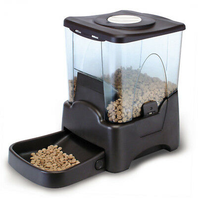 Large Auto Pet Feeder 90 Meal Cat Dog Puppy Kitten Digital Battery 10 Litre