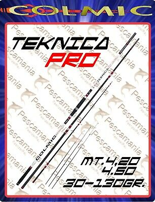 Colmic rod Teknica pro mt. 4.20 mt 4.50 gr 30-130 beach ledgering