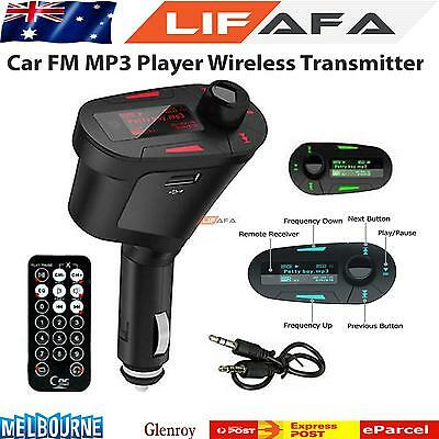 Car Kit MP3 Player Wireless FM Transmitter Modulator USB SD WMA LCD With Remote