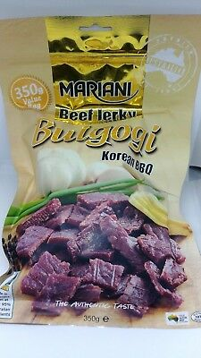 3 x Mariani Beef Jerky Bulgogi 350g 100% Made in Aus - Fast dispatch from Syd