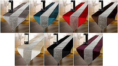 Panache Eclat 13x72 inch Tasselled Table Runner 100% Polyester Various Colours