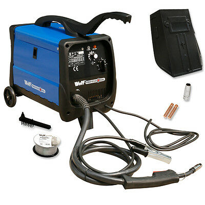 Wolf Professional Mig 140T Turbo Fan Cooled Gas/No Gas Welder & Accessory Kit