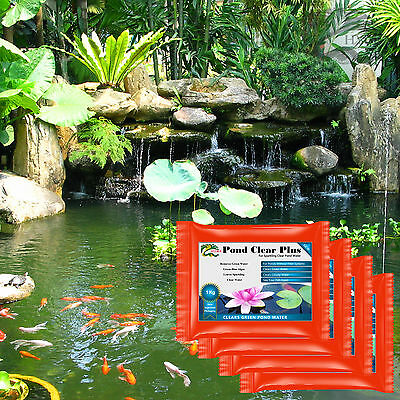 Green Algae Away Pond Works Without External Filters HYDRA POND CLEAR PLUS 4X1KG