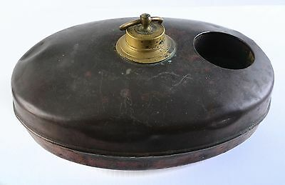 Antique Copper Bed Warmer Foot Oval Hot Water With Baby Bottle Warmer Cooler