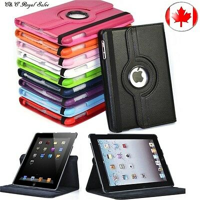 360 Rotating Flip Stand PU Leather Case Cover for Apple iPad Air 1 (2013 model)