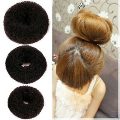 Hair Donuts Ring Bun Stuffing Former Sponge Shape Hair Styler Maker Tool 3Colors