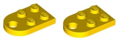 Size: 2 x 2 2 x LEGO Yellow Coupling Plate with Hole NEW